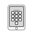 digital security tablet vector image
