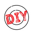 diy rubber stamp vector image vector image