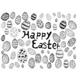 doodle easter eggs background vector image vector image