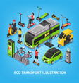 eco transport isometric vector image