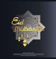 eid al adha or fitr mubarak islamic greeting card vector image vector image