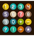 Flat Numbers Set vector image