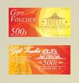 Gift certificate voucher coupon card HotelRestaura vector image vector image