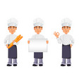 handsome baker in professional uniform vector image