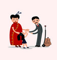 happy chinese family vector image vector image