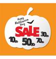 Happy Halloween Calligraphy Halloween sale banner vector image vector image