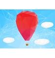 hot air ballon polygonal vector image