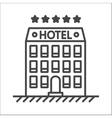 Hotel line icon vector image vector image