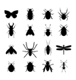 Insect icon black silhouette icons vector image