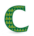 letter c christmas festive font icon vector image vector image