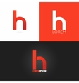 letter H logo design icon set background vector image vector image