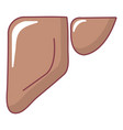 liver icon cartoon style vector image vector image