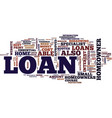 loans for homeowners are the easiest to be vector image vector image