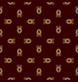 luxury golden vinous pattern vector image