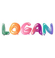 male name logan text balloons vector image vector image