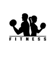 man and woman fitness silhouette character vector image