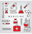 medicine linear concept vector image