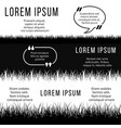 minimalistic banners template with black and white vector image vector image