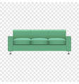 mint color sofa mockup realistic style vector image vector image