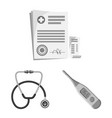 pharmacy and hospital vector image