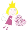 Princess with heart vector image vector image
