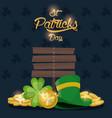 saint patrick days card vector image