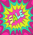 Sale bright background vector image vector image