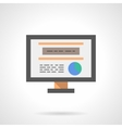 Search web information flat color icon vector image