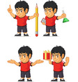 Soccer Boy Customizable Mascot 8 vector image vector image