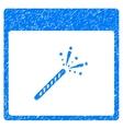 Sparkler Firecracker Calendar Page Grainy Texture vector image vector image
