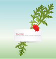spring banner with poppy vector image vector image