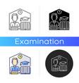 take home exam icon vector image