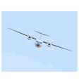 Turboprop airplane in flight vector image vector image