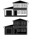 Two icons of cottages vector image