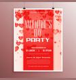 valentines day event celebration flyer template vector image vector image