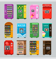 vending machines collcetion merchandise concept vector image vector image