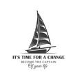 vintage logo sailing yacht vector image