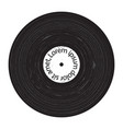 vinyl grunge plate vector image