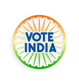 vote india charkra in indian flag colors vector image vector image
