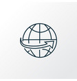 worldwide shipping icon line symbol premium vector image