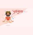 yogi with a wreath on his head banner vector image