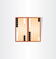 backgammon tournament icon design vector image
