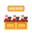 Stock cashiers icon vector image