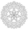 mandala with hearts for coloring book circular vector image