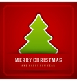 Christmas Tree and Holidays wish Happy New Year vector image