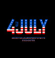 4th july usa independence day font vector image vector image