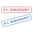 9 percent discount textile stamps vector image vector image