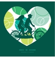 abstract green circles couple on tandem vector image vector image