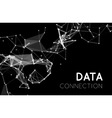 abstract network connection background vector image vector image