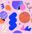 abstract retro 90s cartoon shape seamless pattern vector image vector image